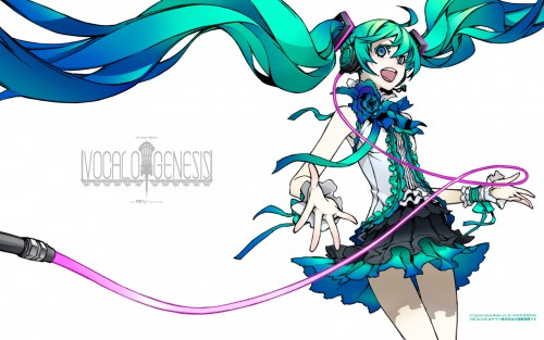 Miwa Shirow, Vocaloid, Miku Hatsune, Official Wallpaper