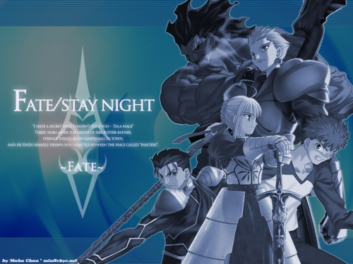Studio Deen, TYPE-MOON, Fate/stay night, Gilgamesh (Fate/Stay Night), Lancer (Fate/Stay Night) Wallpaper