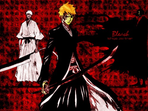Kubo Tite, Studio Pierrot, Bleach, Hichigo Shirosaki, Zangetsu Wallpaper